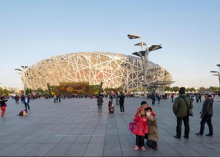 Sân vận động tổ chim ở Công viên Olympic Bắc Kinh. Ảnh: Roland Nagy/Alamy Stock Photo