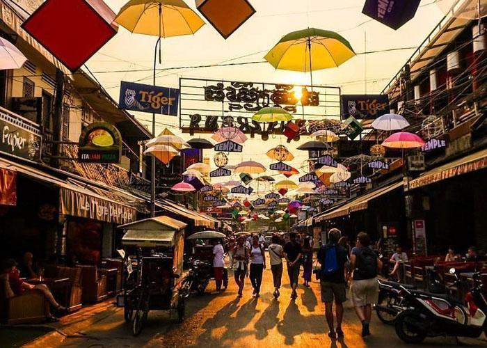 Khu phố Tây ở Siem Reap. Ảnh: siemreapshuttle.com