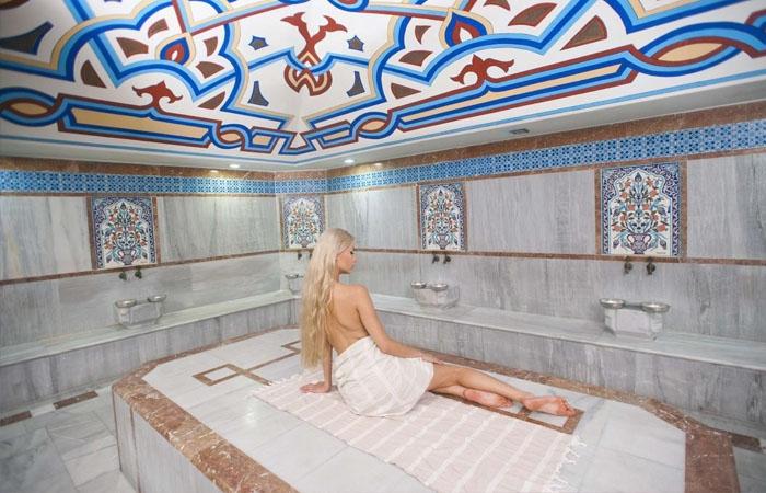 Trải nghiệm spa phong cách Thổ Nhĩ Kỳ. Ảnh: ciklamentourist.hu