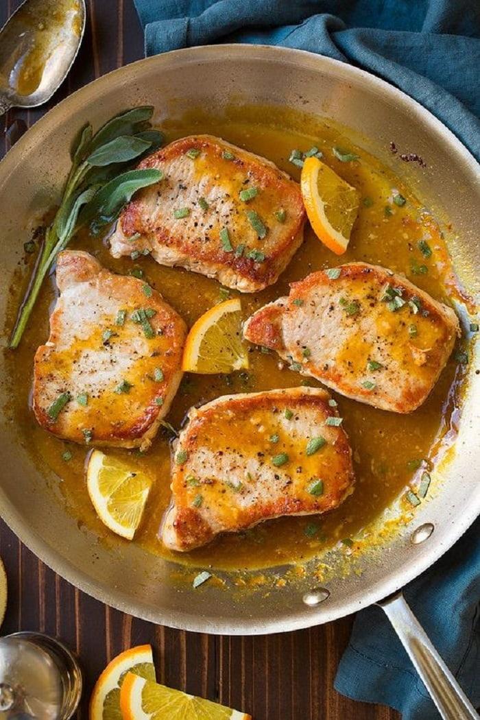 Thịt heo nướng sốt cam là một trong những món ngon Italia siêu hấp dẫn thực khách