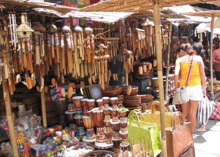 Chợ nghệ thuật Ubud. Ảnh: mapio.net