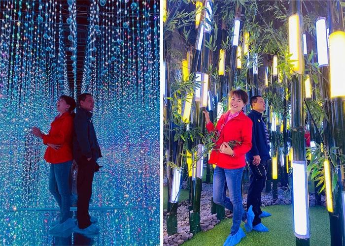 Dù mới khai trương, Vườn ánh sáng Lumiere Đà Lạt đã nhanh chóng thu hút đông đảo du khách ghé thăm