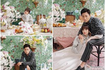 Hari Won - Trấn Thành mặc sành điệu âu yếm ôm nhau đón trung thu
