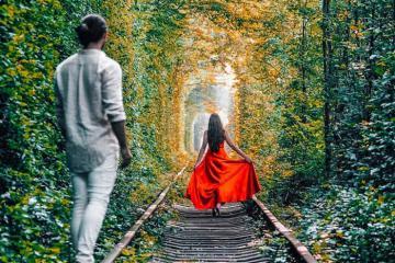 Chiêm ngưỡng đường hầm tình yêu đẹp như phim điện ảnh ở Ukraine