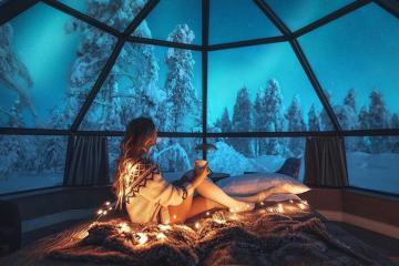 Đến khách sạn có view đắt giá nhất thế giới tại Phần Lan ngắm Bắc cực quang đầy ấn tượng