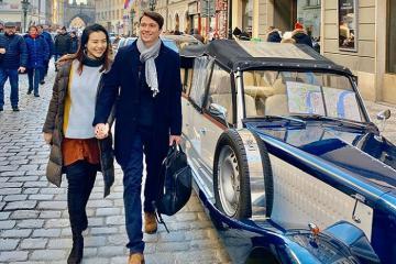 Á hậu Hoàng Oanh cùng chồng đi du lịch khắp Châu Âu sau kết hôn