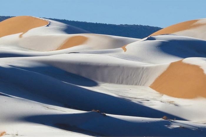 sa mạc Sahara có tuyết