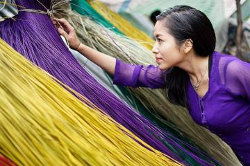 Về thăm làng chiếu Định Yên, di sản văn hóa trăm năm của quốc gia ở Đồng Tháp