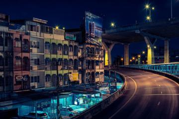 Bangkok về đêm qua góc máy của khách du lịch