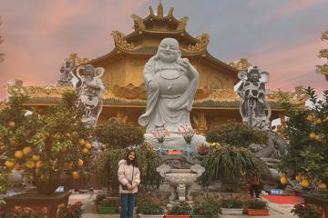 Chùa Phúc Lâm Hưng Yên - ngôi chùa 'dát vàng' được mệnh danh là 'Thái Lan thu nhỏ' khiến dân tình sốt xình xịch