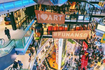 Leo núi trong nhà và những trải nghiệm tuyệt vời tại trung tâm thương mại Funan hot nhất nhì Singapore