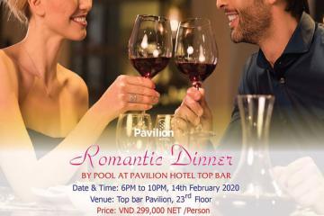 Thưởng thức bữa tối Valentine lãng mạn tại Pavilion Hotel chỉ từ 149.000 VNĐ