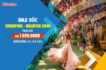 Mua tour Singapore - Malaysia giá hời trong tháng 2