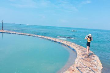 Cận cảnh 'hồ bơi tràn sóng biển' duy nhất ở Vũng Tàu - nơi trời đất giao hòa làm một