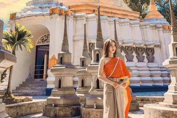 Ngắm ngôi chùa Thiền Lâm Huế đẹp tựa xứ chùa Vàng thu nhỏ