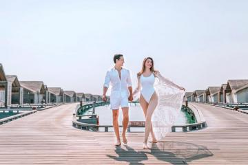 Soi thời trang du lịch biển của Hồ Ngọc Hà và Kim Lý trong chuyến du lịch Maldives