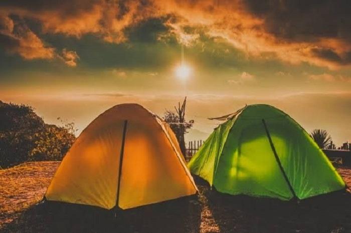 Lều cắm trại mùa hè có vải mỏng, thoáng