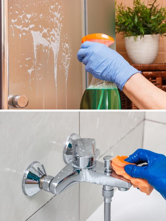mẹo dọn nhà với nước xả vải