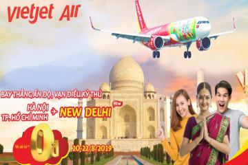 Vietjet mở bán đường bay thẳng Ấn Độ với hàng ngàn vé từ 0 đồng
