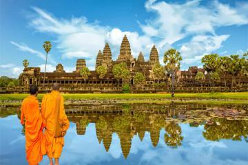 Campuchia cấm du khách ăn uống, chạy xe gần đền Angkor Wat