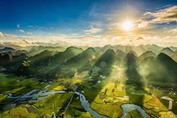 Mùa về ngắm lúa vàng ươm ở thung lũng Bắc Sơn