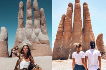 Bàn tay khổng lồ mọc lên giữa sa mạc - biểu tượng du lịch vùng Antofagasta