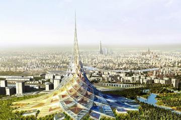 Toà tháp cao ốc chọc trời mang tên 'đảo pha lê' ở Moscow