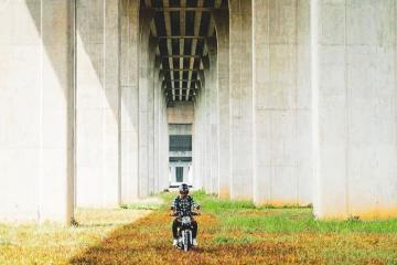 Gầm cầu Vàm Cống, điểm check in mới nổi của An Giang