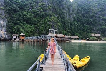 Đảo Nam Cát với resort nổi đẹp hút hồn tín đồ sống ảo ngay gần Hà Nội