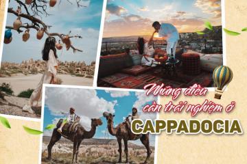 Thích thú với những trải nghiệm ở Cappadocia của đôi bạn trẻ
