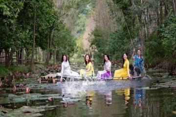 Suối Ấu Vĩnh An điểm mới hấp dẫn du khách trong tiết trời sang thu
