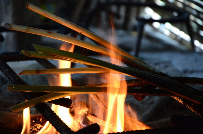 Grilled rattan buds are fragrant.Photo: danviet