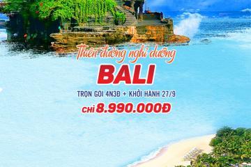 Siêu khuyến mãi: Tour du lịch Đảo Bali trọn gói 4N3Đ giá chỉ 8.990.000 VNĐ