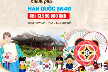 Tour du lịch Hàn Quốc 5N4Đ, bay VietJet Air giá 13.990.000 VNĐ