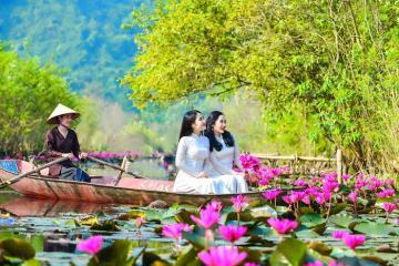 Lạc trôi giữa mùa hoa súng suối Yến – chùa Hương