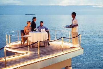 Những nhà hàng sang chảnh bậc nhất ở thiên đường Maldives