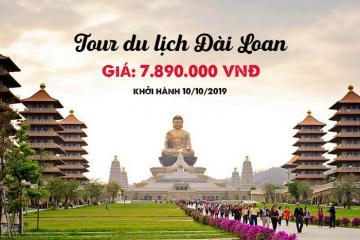 Khuyến mãi HOT: Tour du lịch Đài Loan 5 ngày 4 đêm giá chỉ 7.890.000 VND