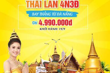 Khuyến mãi hot: Du lịch Thái Lan 4N3Đ giá chỉ 4.990.000 VNĐ