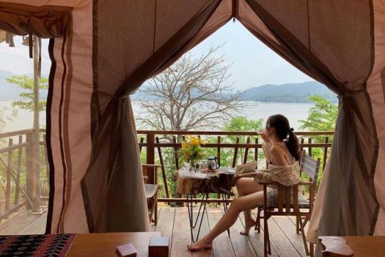 'Ôc đảo bí mật' đầy thơ mộng LAK Tented Camp ở Tây Nguyên
