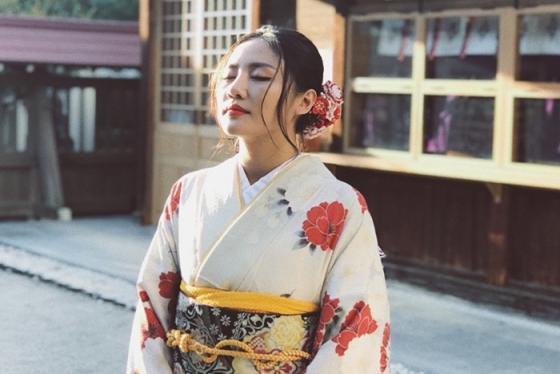 Văn Mai Hương du lịch Nhật Bản, tận hưởng những ngày tươi đẹp