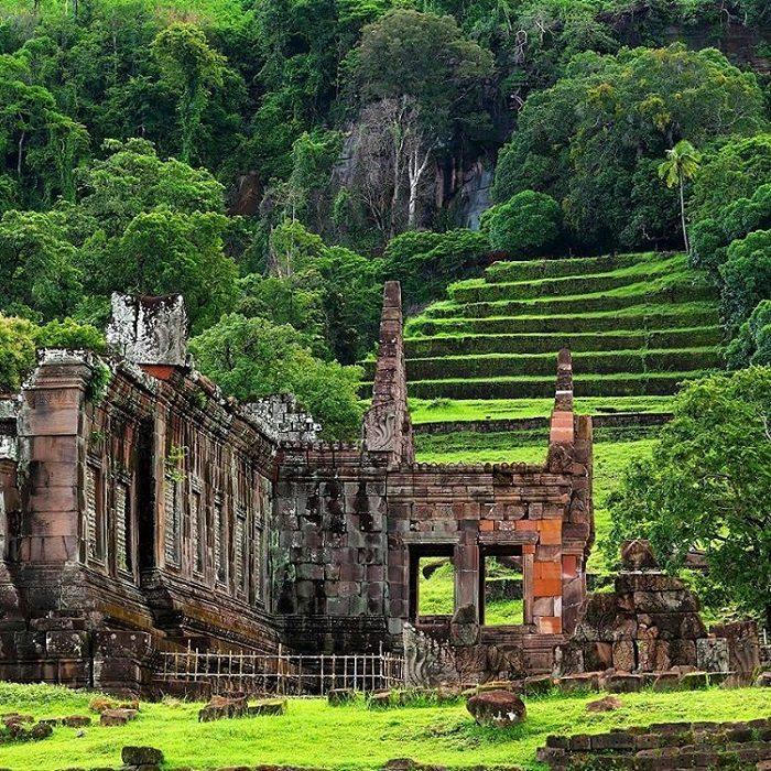 Khám phá đền Wat Phou ở Lào