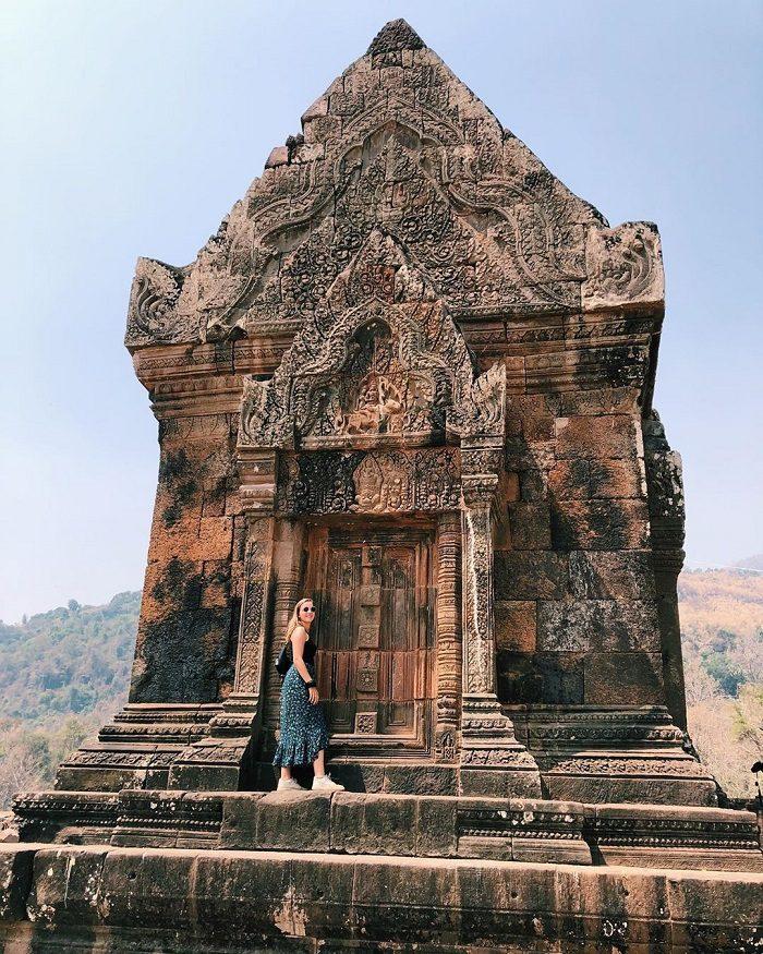 Hoa văn ở đền Wat Phou
