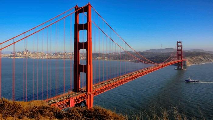 Những cây cầu nổi tiếng thế giới cầu cổng vàng