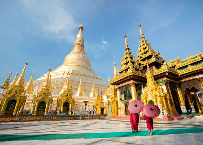 Ngôi chùa Shwedagon dát vàng