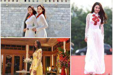 Những lần áo dài Việt tung bay ấn tượng tại các điểm đến nổi tiếng trên thế giới
