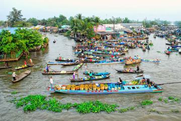 Du lịch Sóc Trăng: Đừng quên ghé thăm chợ nổi Ngã Năm