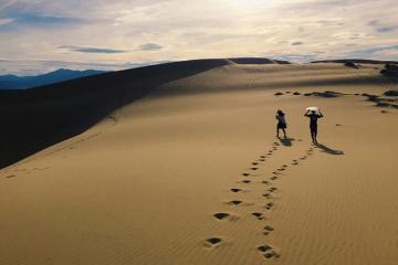 Cồn cát Quang Phú - lạc bước trong sa mạc thu nhỏ ở Quảng Bình