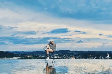 Du lịch Đà Lạt: Đi dạo trên mặt nước tại Cafe Hồ Trên Mây
