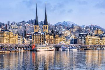 Chiêm ngưỡng vẻ đẹp của mùa đông Thụy Sĩ