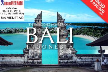 Tour du lịch Đảo Bali trọn gói 4N3Đ giá chỉ từ 9.990.000 VNĐ